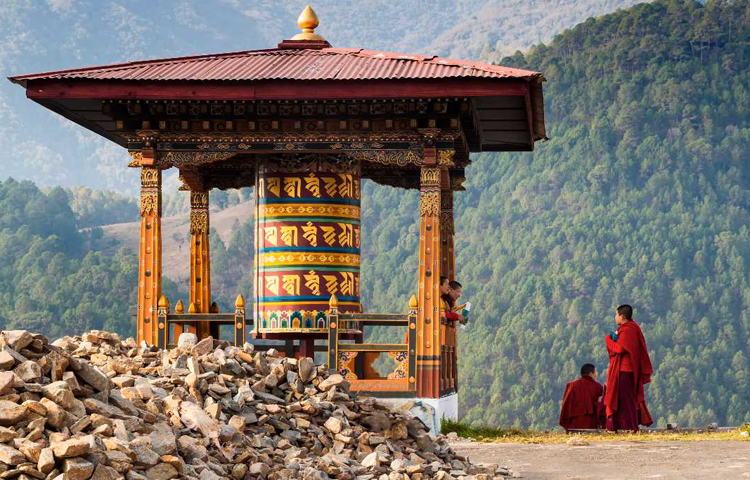 prayer wheel, Bhutan-leaf holidays